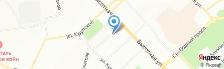 Ева на карте Красноярска
