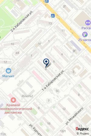 Парикмахер-визажист Вера Рослова на карте Красноярска