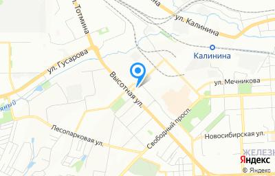 Местоположение на карте пункта техосмотра по адресу г Красноярск, ул Высотная, д 2Ж стр 8