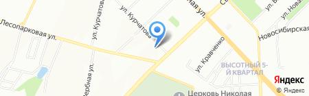 Графика-Постер на карте Красноярска