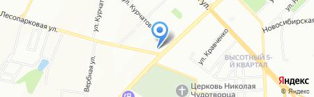 Невский на карте Красноярска