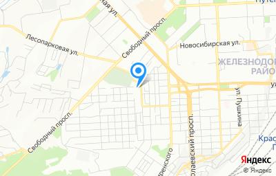 Местоположение на карте пункта техосмотра по адресу г Красноярск, ул Боткина, д 63