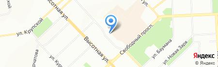 Сиб-билдинг на карте Красноярска