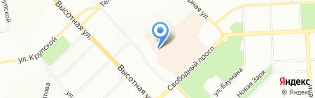 Комфорт-М на карте Красноярска