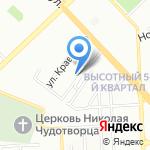 Корона на карте Красноярска