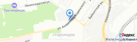 Делфи-студентам на карте Красноярска