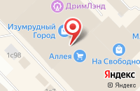 Схема проезда до компании Креатив в Красноярске