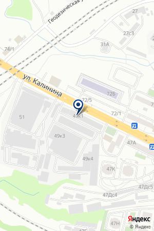 ПРОДУКТОВЫЙ СКЛАД МОСКВИТИНА Н. Г. на карте Красноярска