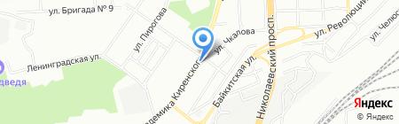 Наш на карте Красноярска