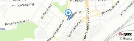 Арбат на карте Красноярска