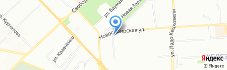 Новосибирский на карте Красноярска