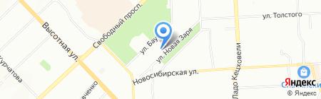 Автовышки на карте Красноярска