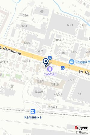 МАГАЗИН АТЛАС на карте Красноярска