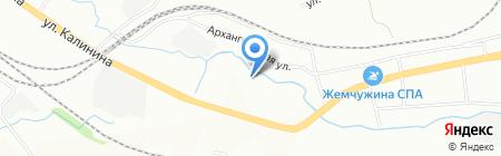 Титан на карте Красноярска