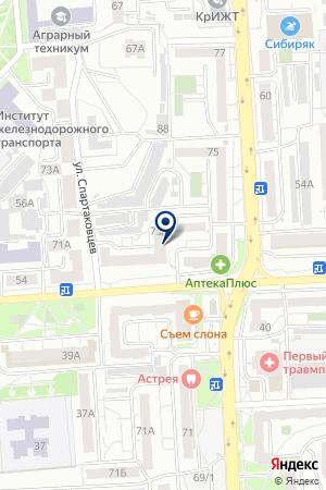 ТУРИСТИЧЕСКАЯ ФИРМА ОАЗИС на карте Красноярска