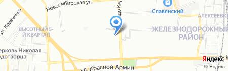 Дэлф на карте Красноярска