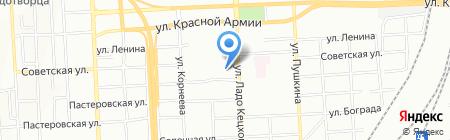Водолей на карте Красноярска