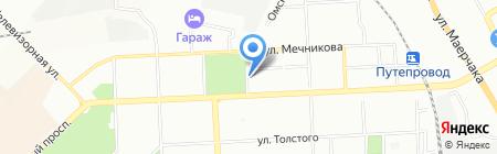 Мужчина и женщина на карте Красноярска
