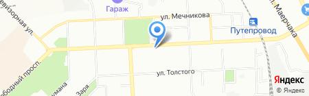 Магазин головных уборов и купальников на карте Красноярска