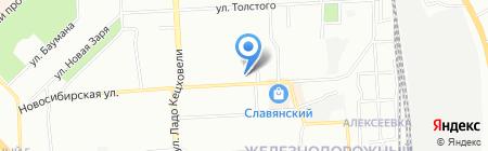 КиК на карте Красноярска