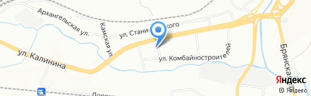Средняя общеобразовательная школа №86 им. М.Ф. Стригина на карте Красноярска