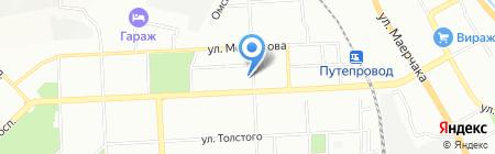 Чистюля на карте Красноярска
