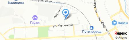 Сибирячка на карте Красноярска