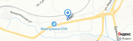 Автострада на карте Красноярска