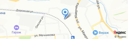 Радиал на карте Красноярска