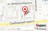 Схема проезда до компании Ростра в Красноярске