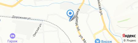 Пузырчатая пленка на карте Красноярска