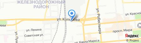 Фага на карте Красноярска
