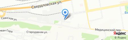 Альмонд на карте Красноярска