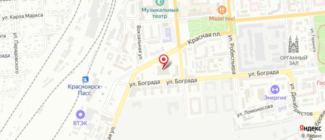 Карта расположения пункта доставки Халва в городе Красноярск