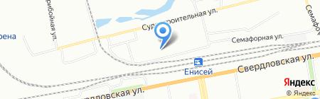 Прибой на карте Красноярска