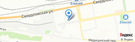 Селена на карте Красноярска
