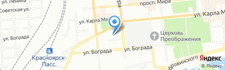 ТрансВэл на карте Красноярска
