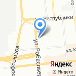Пловная №1 на карте Красноярска