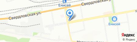 Масис на карте Красноярска