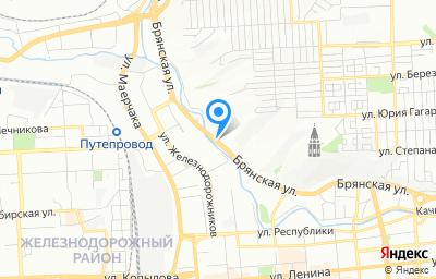 Местоположение на карте пункта техосмотра по адресу г Красноярск, ул Брянская, д 140 стр 2