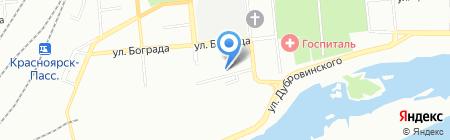 Шетокан на карте Красноярска