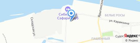 Янис на карте Красноярска