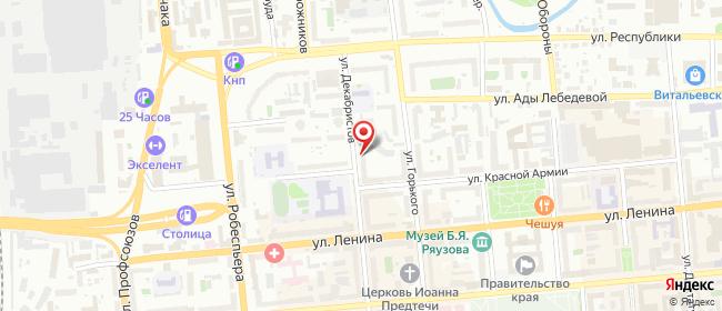 Карта расположения пункта доставки Красноярск Декабристов в городе Красноярск