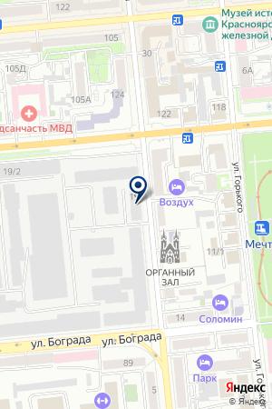 ПТФ ЭПОХА на карте Красноярска