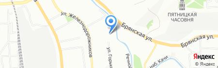 Средняя общеобразовательная школа №4 на карте Красноярска
