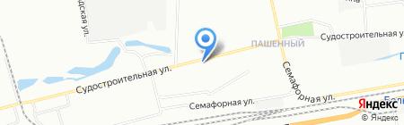 Вектор на карте Красноярска