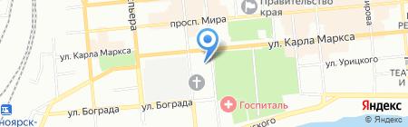 Электрон на карте Красноярска