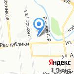 Сибклиник на карте Красноярска