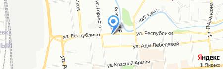 Афродита на карте Красноярска
