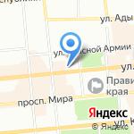 Гамма на карте Красноярска